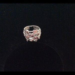 Silver Diamonique Ring Size 8